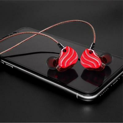 Earphone Dual Dynamic Oblique Super Bass Headset With Mic For Tablets Computer