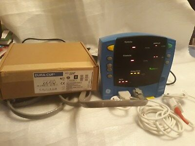 GE Carescape V100 Patient Monitor, Blood Pressure  + Oxygen Saturation, Desktop