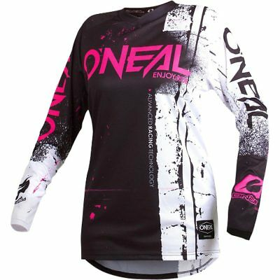 NEW Oneal Mx 2019 Element Shred Pink/Black Womens Motocross Dirt Bike Jersey