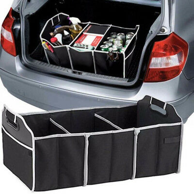 1pc Car Trunk Cargo Organizer Folding Collapsible Storage Box Bag Multi-use