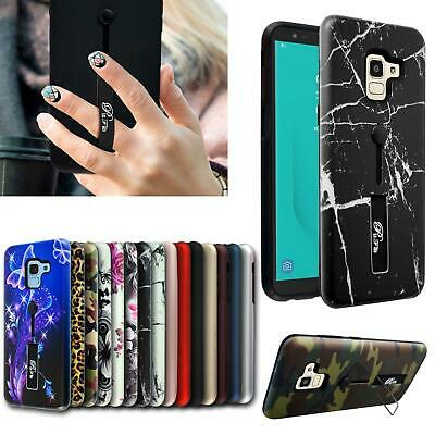 For Samsung Galaxy A6 2018 A600F New Black Shock Proof Gel Ring Phone Case Cover