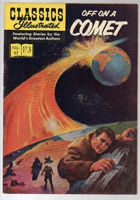 #63 Off On A Comet Jules Verne Classics Illustrated HRN 129 British Edition