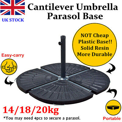 New 14/18/20kg Resin Banana Cantilever Parasol Base Garden Patio Umbrella Weight