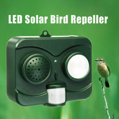 Ultrasonic Bird & Animal Repeller Pest Repellent with Large Solar Power Plate