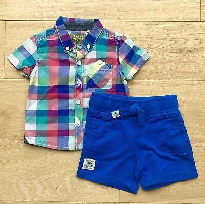 NEXT *3-6m BABY BOYS SUMMER Bundle Outfit SHIRT & SHORTS AGE 3-6 MONTHS
