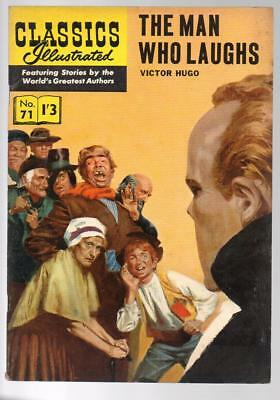 #71 The Man Who Laughs Victor Hugo Classics Illustrated HRN 141 British Edition