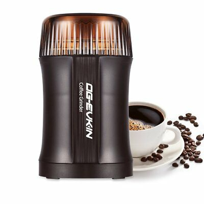 Electric Coffee and Spice Grinder 200W Herbs Nuts Pepper Stainless Steel Blades