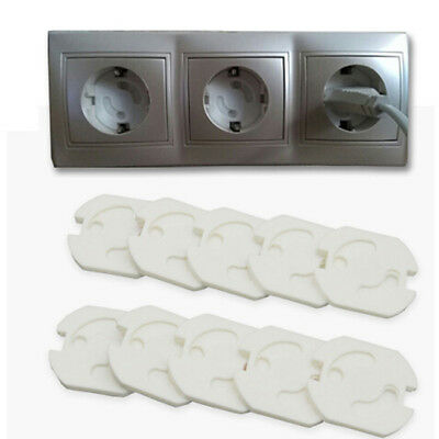 10Pcs Baby Safety Rotate Cover 2 Hole Round European Standard LH