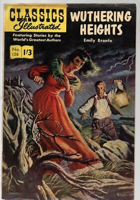 #128 Wuthering Heights Emily Bronte Classics Illustrated HRN 136 British Edition