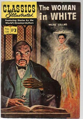 #130 Woman In White Wilkie Collins Classics Illustrated HRN 136 British Edition