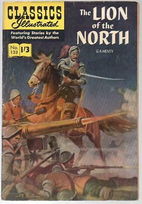 #133 Lion Of The North G A Henty Classics Illustrated HRN 129 British Edition