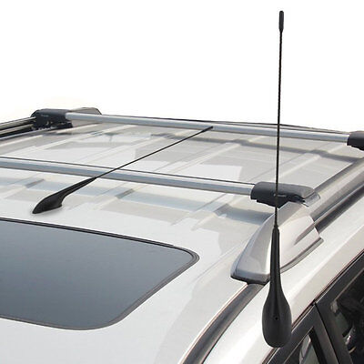 Auto Car Bus Top Roof Mount AM FM Radio Antenna Aerial Base Kit Black MO