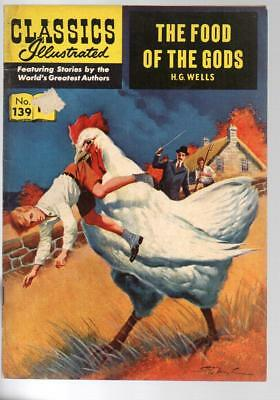 #139 Food Of The Gods H G Wells Classics Illustrated HRN 141