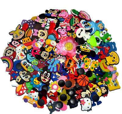 100 Pcs PVC Shoe Charms Fit Croc & Bands Bracelet and party Gifts