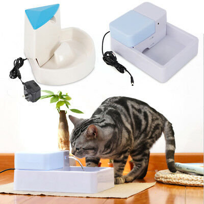Automatic Electric Pet Water Fountain Dog Cat Drinking Bowl Waterfall Drink AU