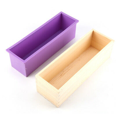 1.2kg soap Wood Loaf Soap Mould with Silicone Mold Cake Making Wooden Box AU