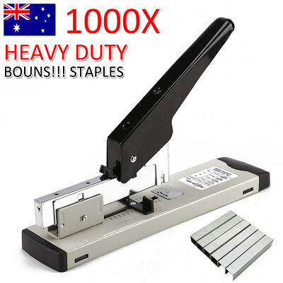 100 Sheet Bookbinding Stapling Capacity Heavy Duty Metal Stapler+1000 Staples AU