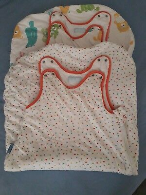Grobag Duo Twinpack Baby Sleeping Bags Teddy Bears Spots Age 6-18 Months 2.5 Tog