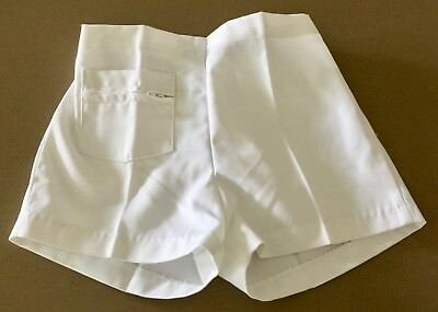 NWT 70's Vintage Kids  White STUBBIES School Shorts Size 10