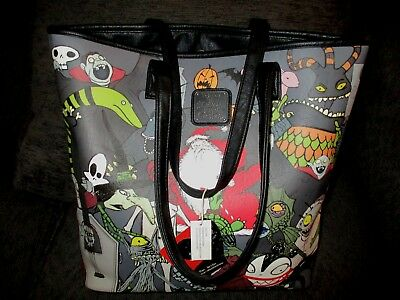 Loungefly Nightmare Before Christmas Character Tote Bag Jack Skellington Sallie