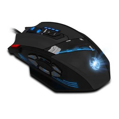 8 Taste Wired Gaming Maus USB LED PC Computer Laptop Mouse 9200DPI für Pro Gamer