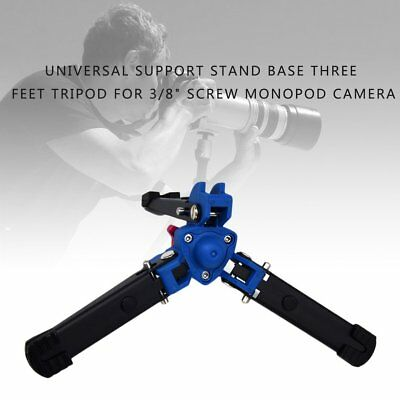 """Universal Support Stand Base Three Feet Tripod For 3/8"""" Screw Monopod Camera AF"""