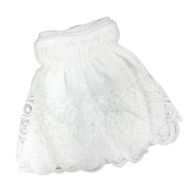 Lace Ruffle Elastic Band Bed Skirt White_1.35x2m Easy On Off Dust Full Size