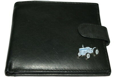 Ferguson T20 Grey Tractor Wallet Leather Black/Brown Enamel Farming Gift Boxed