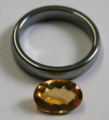 Loose Yellow Citrine Natural Gemstone  8X11Mm Oval Cut Faceted 2Ct Mineral Ci43A