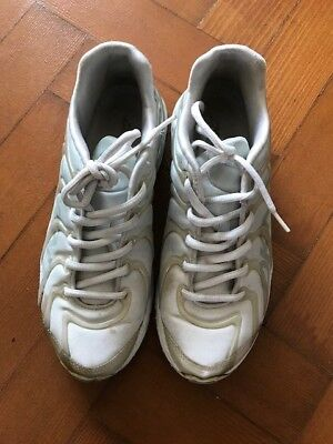 Ladies White DKNY Lace Up Trainers - Size 5 - USED