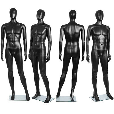 185cm Male Mannequin Full Body Clothes Display Showcase Commercial Detachable-BK