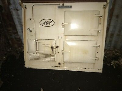 Wood Stove Kitchen Antique parts AGA oven Front panel only