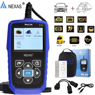 Heavy Duty Truck Diesel Code Reader OBD2 Regeneration Diagnostic Scanner Tool MA