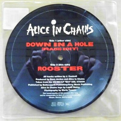 """Vinyl-Picture-Single: Alice In Chains """"Down In A Hole b/w Rooster"""""""