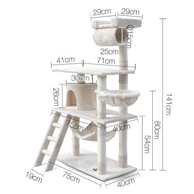 141cm Multi Level Cat Kitten Tree Tower Post Toy Condo Scratch Pet House Play