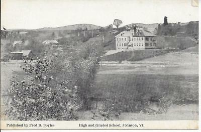 High And Graded School, Johnson, Vermont, Published By Fred B. Boyles