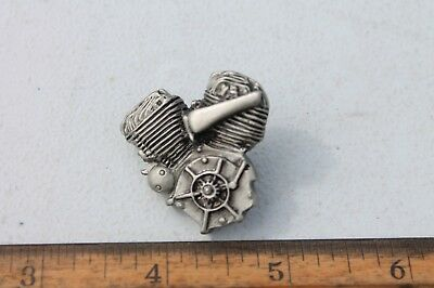 NEW! Harley Davidson Flathead Engine Lapel Pin w/ Screw-On Lock On Back
