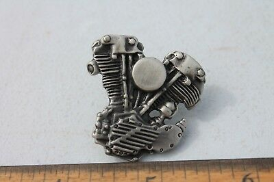 NEW! Harley Davidson Knucklehead Engine Lapel Pin w/ Screw-On Lock On Back