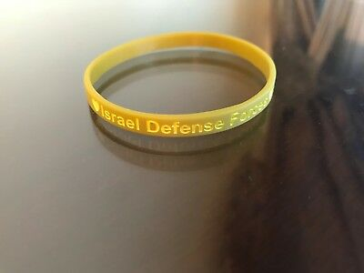 Israel Defenses Forces צ.ה.ל. New Army Green Rubber Bracelet