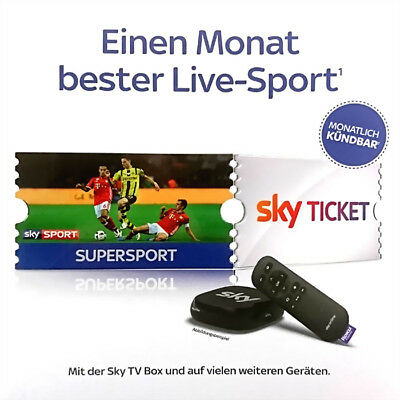 Sky TV Box + 1 Sky Monatsticket Supersport - Sky Abo mtl. kündbar online schauen