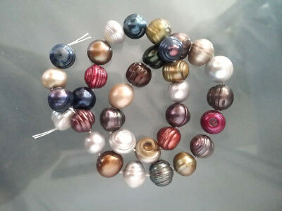 """Real huge 11-13mm Natural Multicolor Baroque Pearl Classic Loose Beads 15"""""""