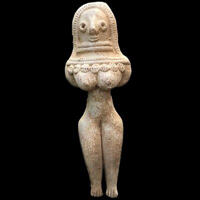 Indus Valley Pottery Fertility Goddess Figure 2000 B.c. Bronze Age (4)