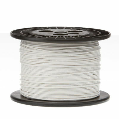 """24 AWG Gauge Solid Hook Up Wire White 1000 ft 0.0201"""" UL1061 300 Volts"""