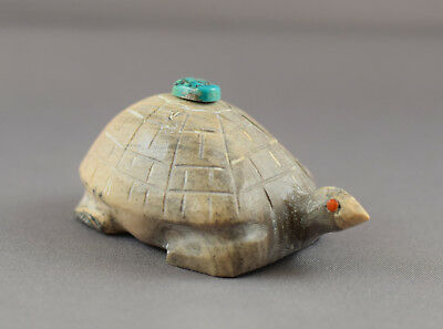Aaron Sheche (d) Vintage Zuni Fetish Turtle Serpentine - Late Husband of Thelma