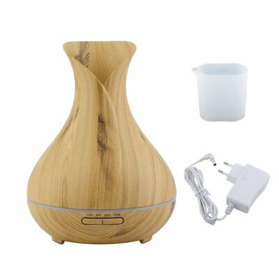 LED Air Humidifier Portable Ultrasonic Wood Grain Aromatherapy AF
