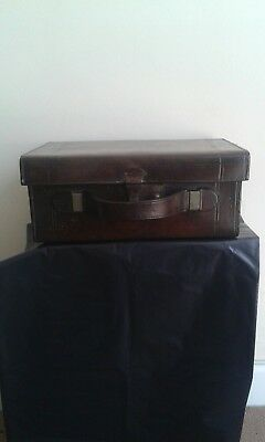 leather suit case high quality antique