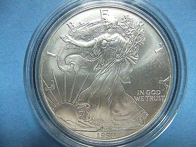 1999 Uncirculated ~ 1 troy oz AMERICAN EAGLE ~ Walking Liberty in case.