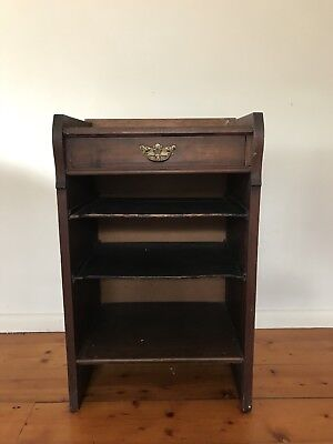 Small Antique Table with Shelves and a Drawer