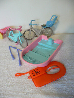 Vintage Fisher Price Loving Family Bicycles Baby Carriers Boat
