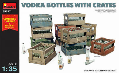 Miniart 35577 - Vodka Bottles With Crates Wwii - Plastic Models Kit 1/35 Scale